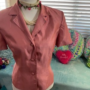 Kathi Lee Collection pink jacket/top